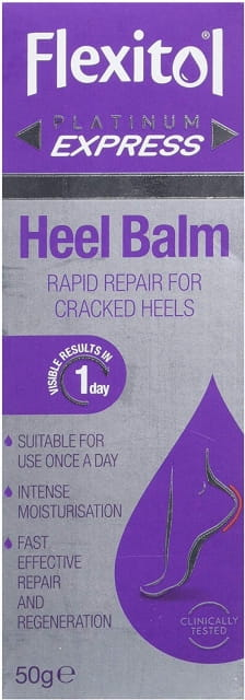 Flexitol Platinum Express Heel Balm, Rapid Repair for Cracked Heels and Dry Feet - 50 g